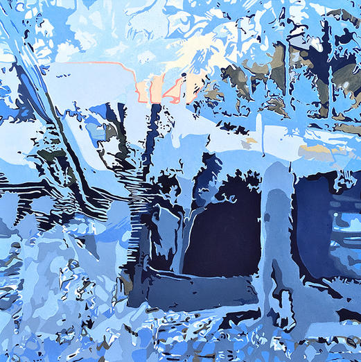 Winter in Connecticut Painting