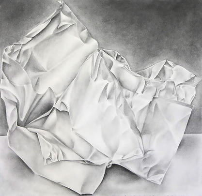 Crumpled Paper Life Drawing