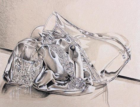 Glass & Fabric Life Drawing