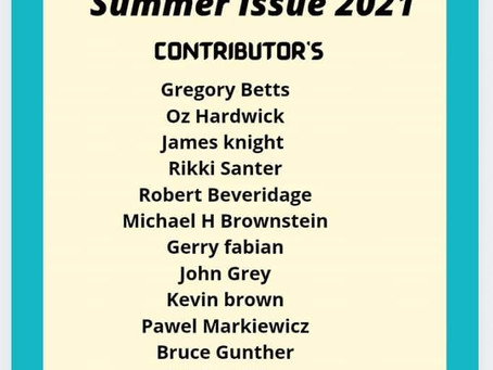 Contributor's List of Arc Magazine Summer Issue 2021