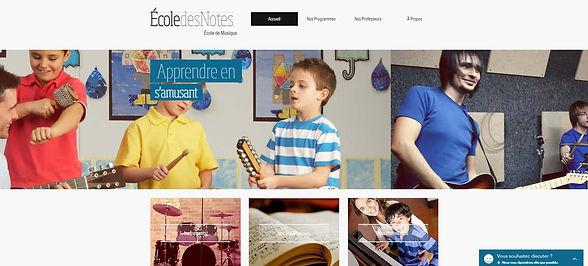 Site internet école de musique