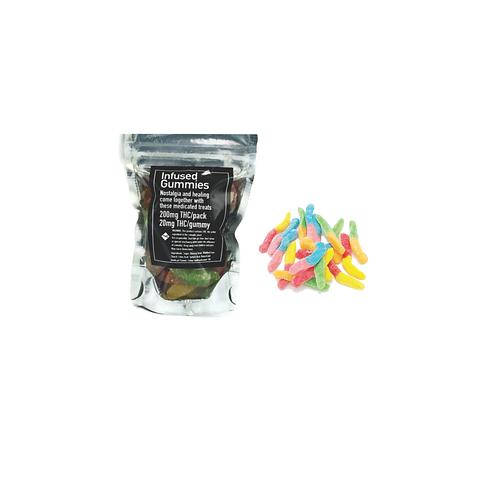 Infused Worm Gummies – 200mg