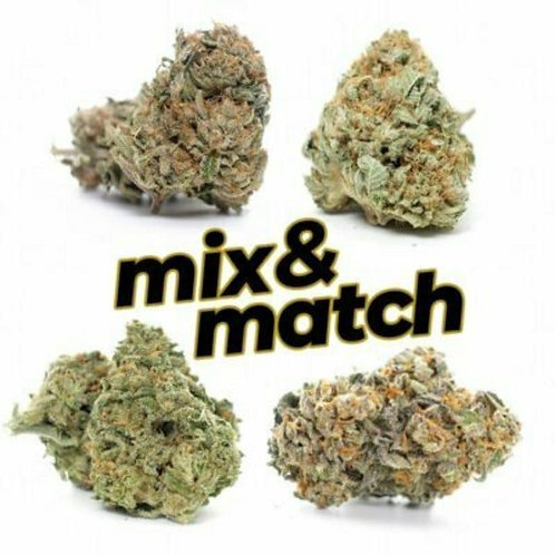 1 Ounce Mix & Match any 4 strains on our menu