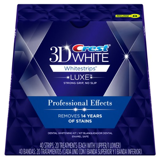 Crest 3D White Luxe Whitestrips Professional Effects - Teeth Whitening Kit 20 Treatments 1