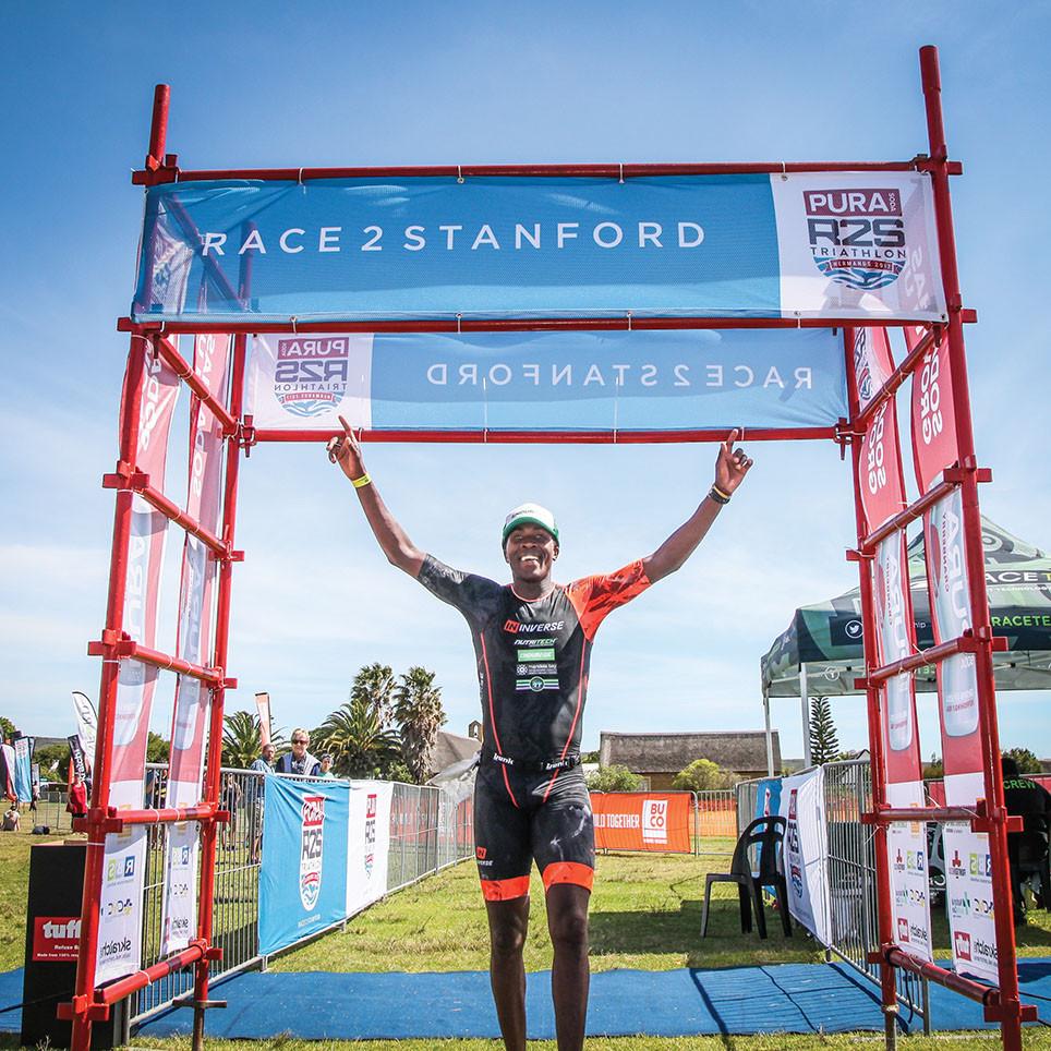 Jabu Mpengesi at Race 2 Stanford