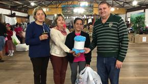 Campanha solidária em  Saldanha Marinho distribuiu  milhares de agasalhos