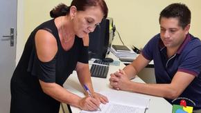 Vereadora professora Jussa assumiu cadeira no Legislativo de Santa Bárbara do Sul