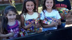 Assobesba de Santa Bárbara do Sul entregou doces no Dia das Crianças