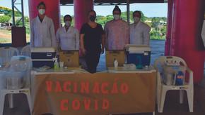 Santa Bárbara do Sul imunizou idosos com 84 anos ou mais contra a Covid-19