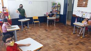 Escola Pequeno Pé de Santa Bárbara do Sul retornou com aulas presenciais