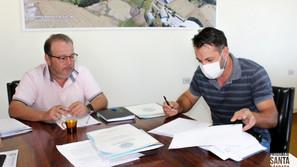 Assinado contrato para obra de pavimentação no Distrito Industrial de Santa Bárbara do Sul
