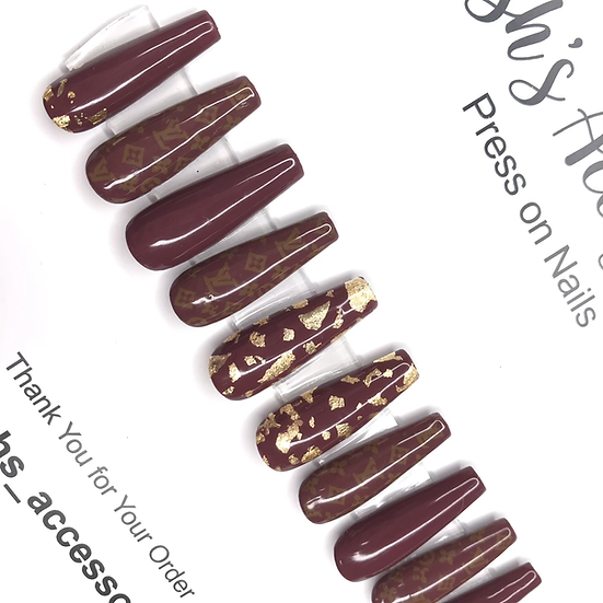 Designer Inspired Graphic Nails