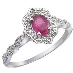Genuine Ruby and Diamond Ring