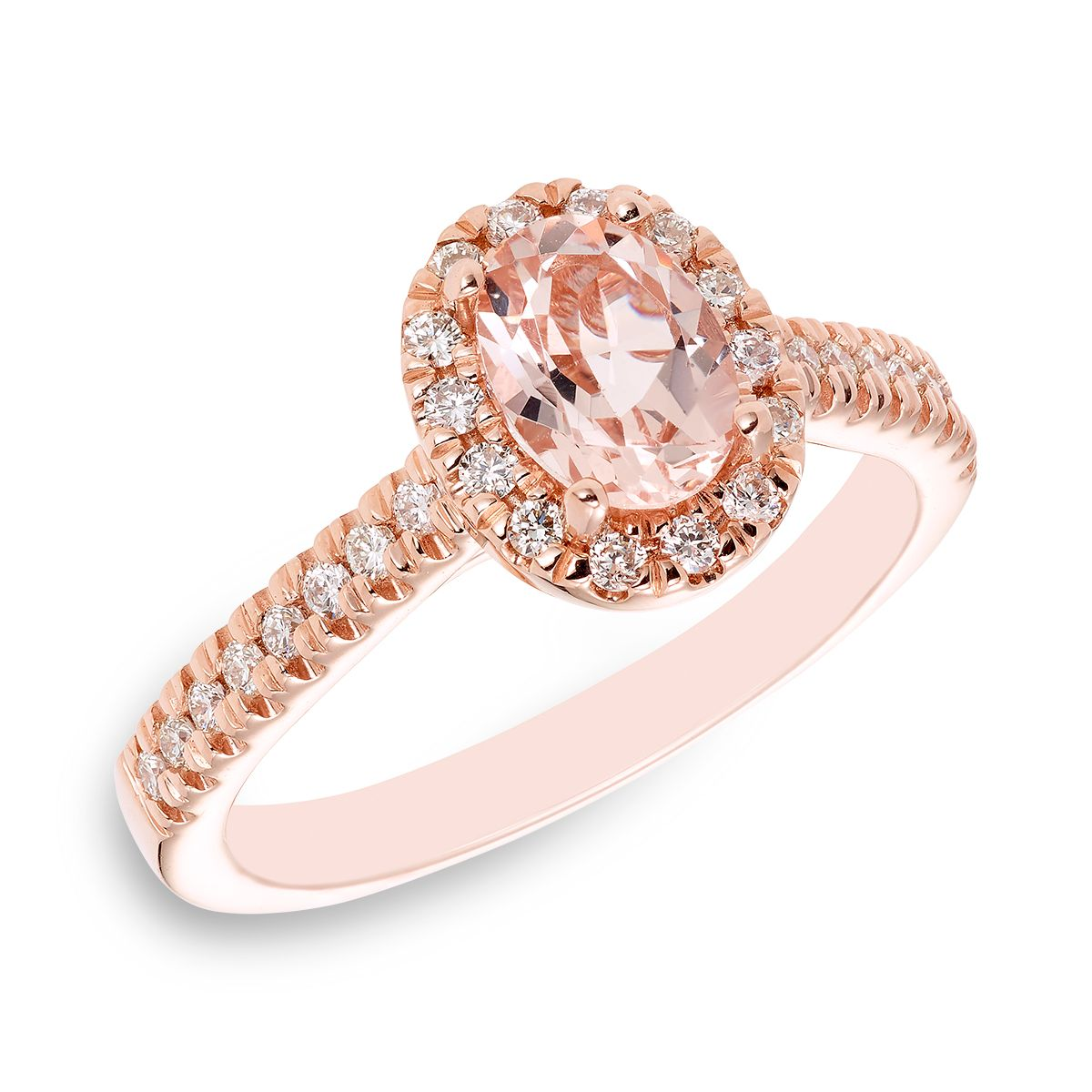 14K Rose Gold Morganite Ring