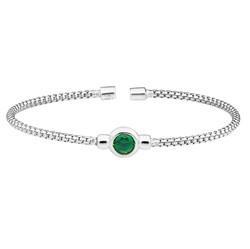 Bella Cavo Green Stone Bracelet