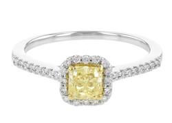 Natural Yellow Diamond Engagement Ring