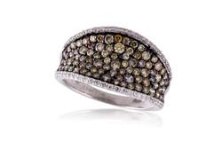 Multi-Colored Diamond Fashion ring.