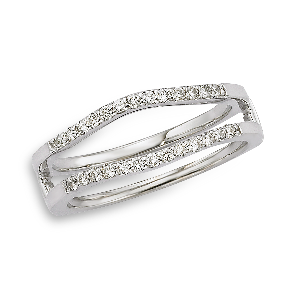 14K White Gold Insert Band