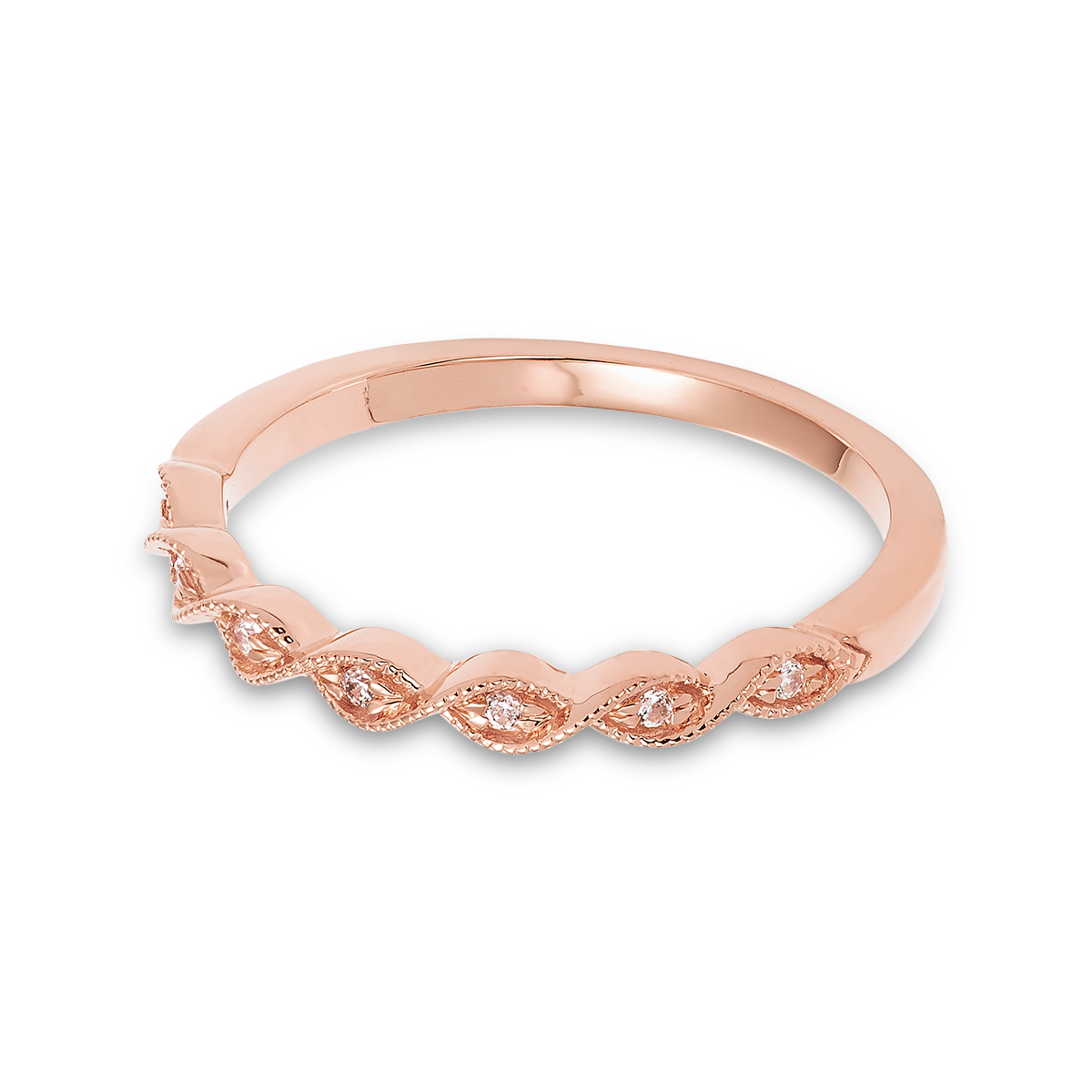 10K Rose Gold stacking band