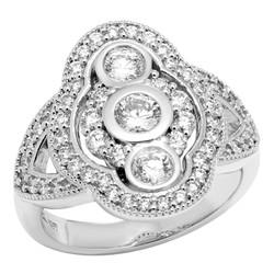 White Gold Antique Style Diamond Ring