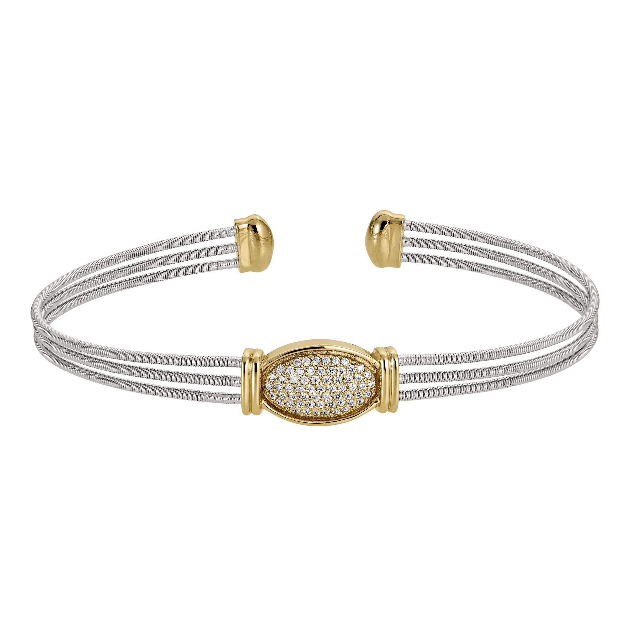 Bella Cavo Stacking Wire Cuff Bracelet