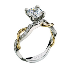 Two-Tone Twist Engagement Ring