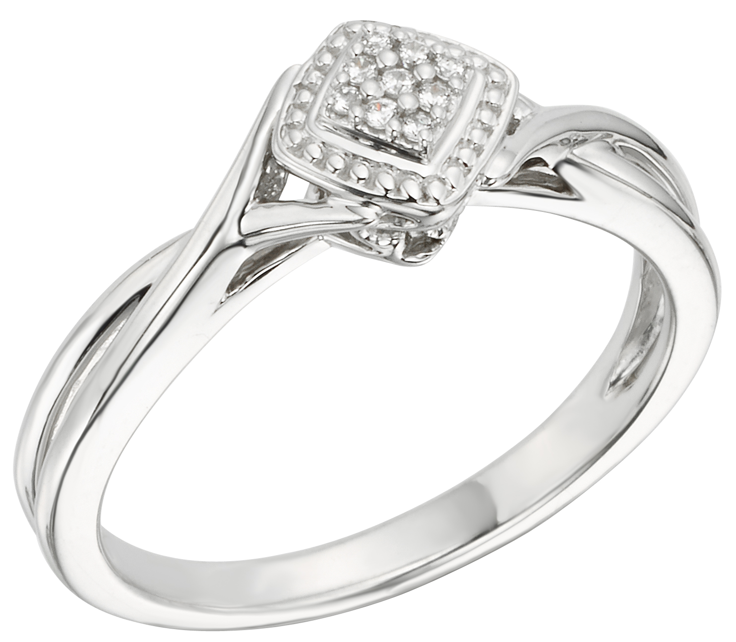 White Gold Diamond Promise Ring