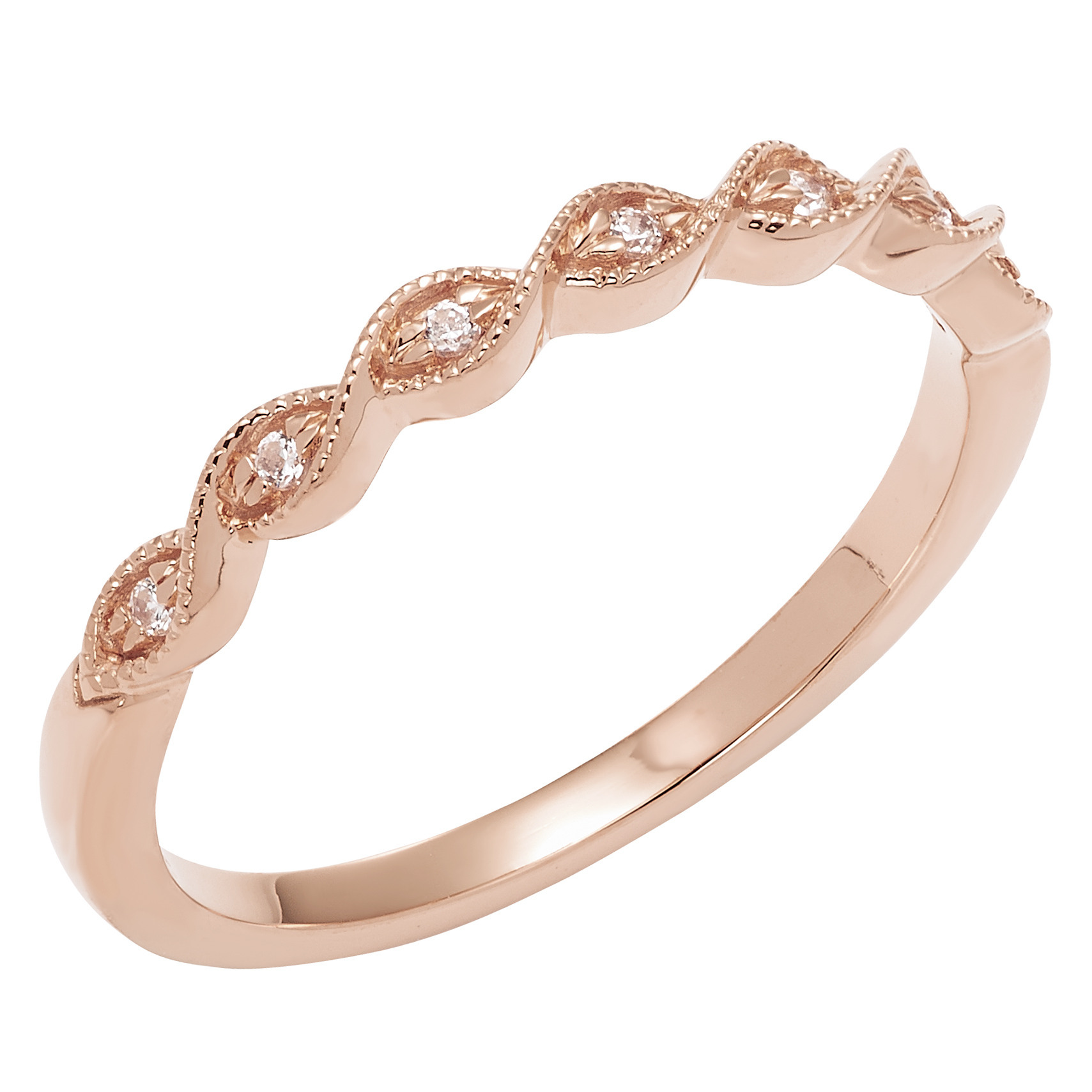 Stackable Twist Diamond Band
