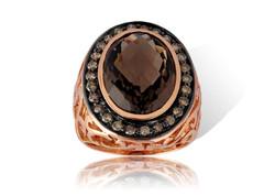 Rose Gold Smoky Quartz Ring