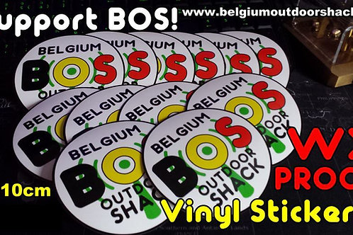 BOS! vinyl sticker  (1 piece)