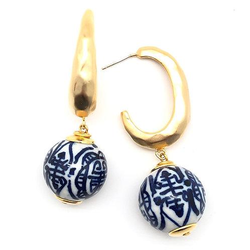 Chinoiserie Hoop Earring