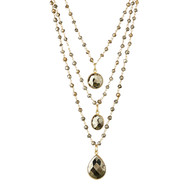 Pyrite three strand necklace