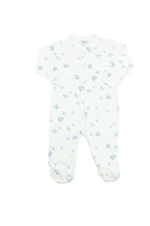 Star Print Baby Footie