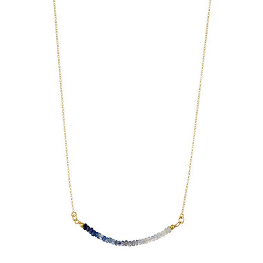 Sapphire Arched Bar Gemstone Necklace