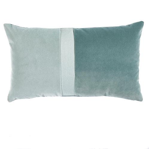 Spa Velvet Color Block Lumbar Pillow