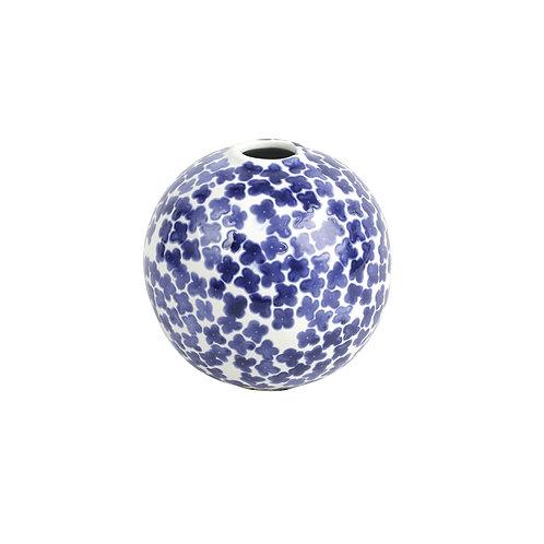 Blue Flower Round Vase