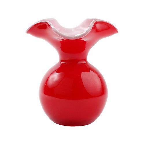 Red Hibiscus Vase