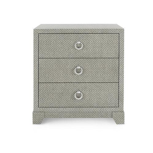 Gray Tweed Side Table