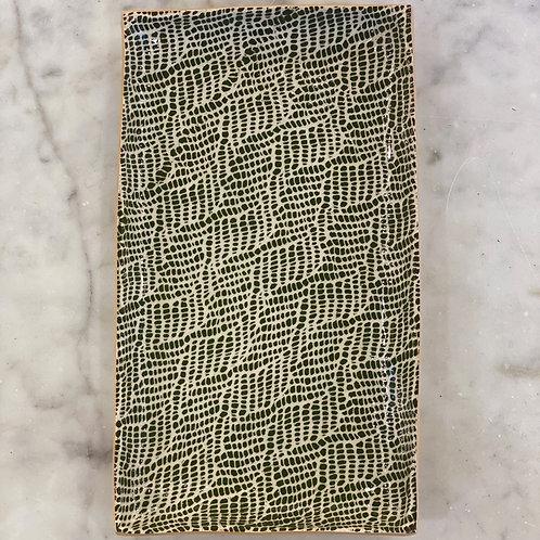 Stacking Rectangle Braid Pine Platter