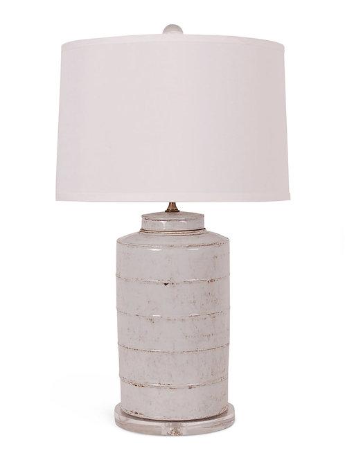 Antique White Tea Caddie Lamp