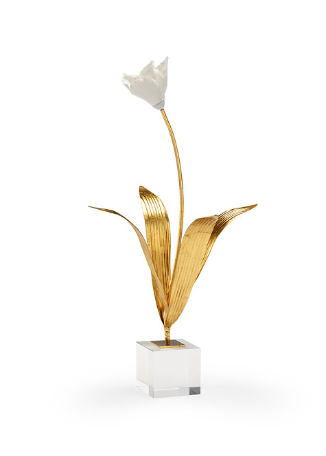 Porcelain Tulip on Stand