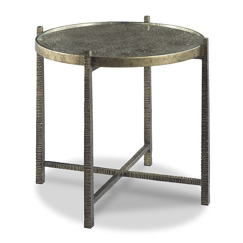 Textured Metal Side Table