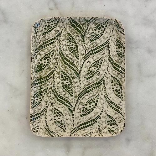 Tidbit Tray Paisley Pine