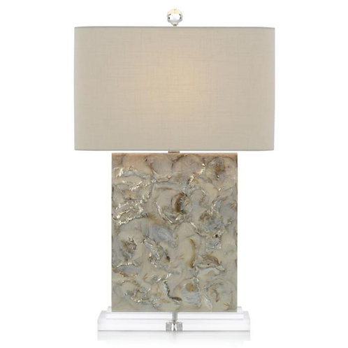 Creamy White & Grey Capiz Lamp