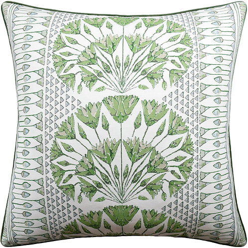 Green & White Pillow