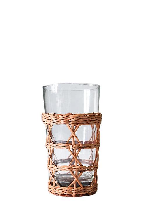 Rattan Drinking Glass
