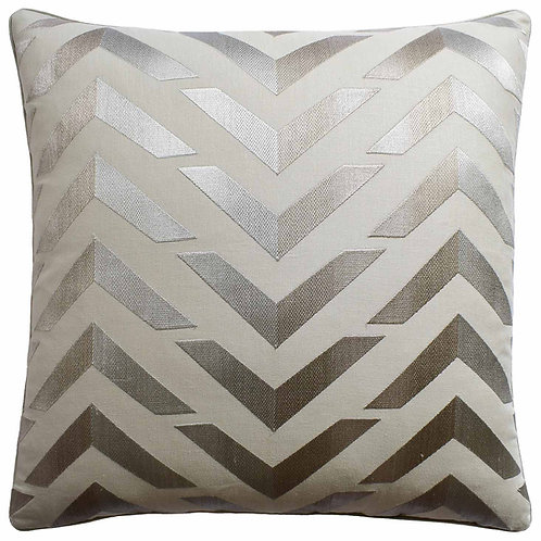 Silver Les Vagues Pillow