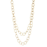 """Round Links Gold Filled Chain 36"""""""