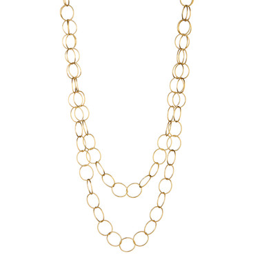 Round Links Gold Filled Chain 36""
