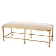 Gold Leaf Pod Bench